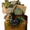 Elephant Trunk Gift Basket for Baby Boy - Shown for Hand Delivery