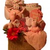 Elephant Trunk Gift Basket for Baby Girl - Shown for Hand Delivery