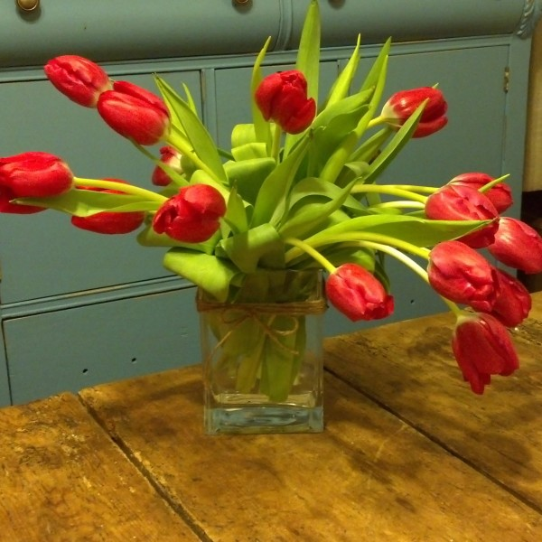 Enchanted Tulip Floral Arrangment - Shown 15 Stems