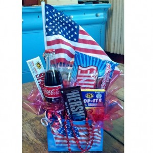 Patriotic Nostalgia Gift Basket - Shown Standard