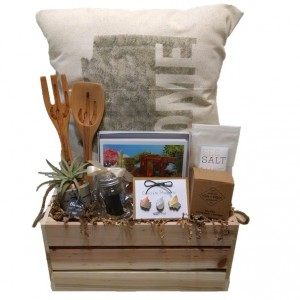 Arizona Is So Haute Right Now Gift Crate - Premium (Shown with Arizona Home State Throw Pillow)