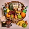 Fruit and Gourmet Gift Basket - Deluxe version