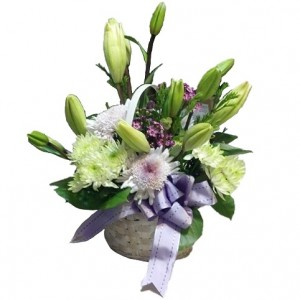 Seasonal Floral Gift Basket - Shown Standard