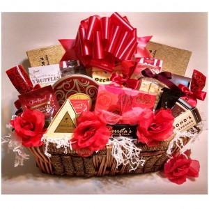 Always and Forever Valentine Gift Basket - Deluxe